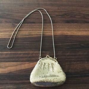 Vintage Whiting & Davis gold mesh mini bag